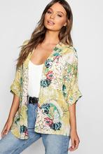 Boohoo | Oriental Floral Kimono | Clouty