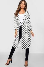 Boohoo | Large Polka Dot Belted Woven Kimono | Clouty