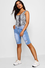 Boohoo | Ripped Distressed Bermuda Shorts | Clouty