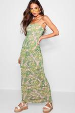 Boohoo | Palm Print Square Neck Maxi Dress | Clouty