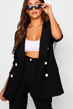 Boohoo | Double Breasted Blazer with Contrast Button | Clouty