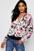 Boohoo | Helen Wrap Chiffon Pink Based Floral Blouse | Clouty