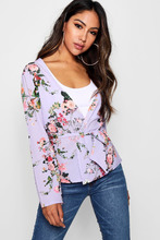Boohoo | Rose Floral Belted Kimono | Clouty