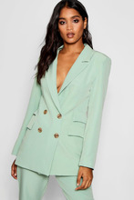 Boohoo | Double Pockets Double Breasted Blazer | Clouty