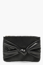 Boohoo | Georgie Large Bow Ziptop Clutch | Clouty