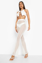 Boohoo | Halloween Mesh Panelled Flare Trouser | Clouty