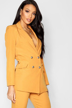 Boohoo | Longline Double Breasted Jacket | Clouty