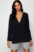 Boohoo | Collarless Double Breasted Duster Jacket | Clouty