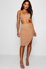 Boohoo   Bandage Skirt and Crop Top Co-ord Set   Clouty
