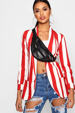 Boohoo | Stripe Pocket Collared Blazer | Clouty