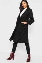 Boohoo | Oversized Sleeve Wool Look Coat | Clouty