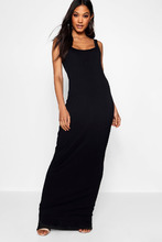 Boohoo | Square Neck Basic Jersey Maxi Dress | Clouty