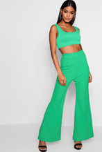 Boohoo | Front Seam Flare Trousers | Clouty