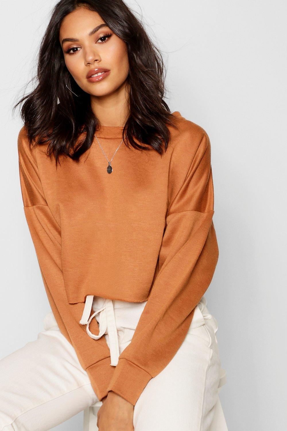 Boohoo | Raw Hem Oversized Boxy Sweat | Clouty