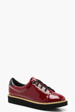 Boohoo | Lace Up Cleated Brogues | Clouty