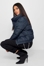 Boohoo | Crop Funnel Neck Padded Jacket | Clouty