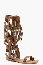 Boohoo | Studded Leather Gladiator Sandals | Clouty