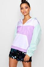 Boohoo | Oversized Colour Block Sports Jacket | Clouty
