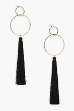Boohoo | Hoop Tassel Earrings | Clouty