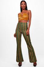 Boohoo | Bold Contrast Stripe Skinny Flare | Clouty