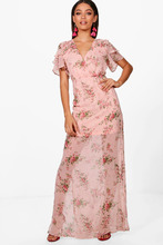 Boohoo | Boutiue  Ditsy Floral Angel Sleeve Maxi Dress | Clouty