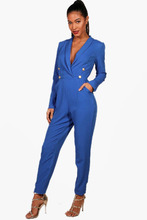 Boohoo | Military Blazer Jumpsuit | Clouty
