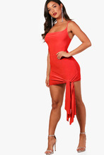 Boohoo | Cowl Neck Drape Detail Bodycon Dress | Clouty
