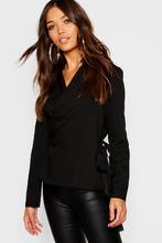 Boohoo | Wrap Front Tie Side Blouse | Clouty