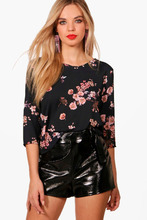Boohoo | Floral Print Blouse | Clouty
