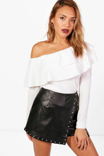 Boohoo   Frill One Shoulder Top   Clouty