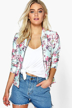 Boohoo | Floral Pastel Bomber | Clouty