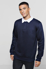 Boohoo | Fleece Slim Fit Rugby Top | Clouty