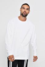 Boohoo   Long Sleeve Oversized Split Hem T-Shirt   Clouty