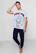Boohoo | E.T Pyjama Set With Slim Fit Bottoms | Clouty