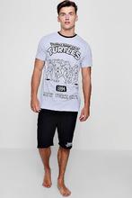 Boohoo | Ninja Turtles T-Shirt And Shorts Lounge Set | Clouty