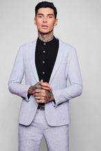 Boohoo | Herringbone Skinny Fit Suit Jacket | Clouty
