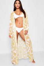 Boohoo | Chain Print Beach Kimono | Clouty