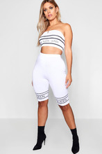 Boohoo | Plus Queen Printed Cycling Shorts | Clouty
