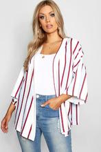 Boohoo | Plus Stripe Kimono | Clouty