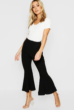 Boohoo | Petite Cropped Flare Ankle Grazer | Clouty