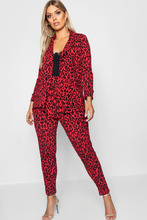 Boohoo | Plus Leopard Print Suit Co-ord | Clouty