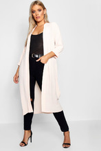 Boohoo | Plus Turn Up Duster Coat | Clouty