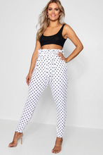 Boohoo | Plus Lola Polka Dot Paper Bag Waist Trouser | Clouty