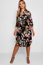 Boohoo | Plus Floral Printed Shirt Dress | Clouty