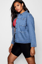 Boohoo | Plus Denim Shacket | Clouty