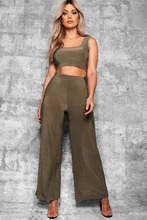 Boohoo | Plus Slinky Wide Leg Trousers | Clouty
