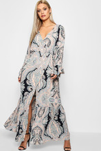 Boohoo | Plus Paisley Wrap Maxi Dress | Clouty