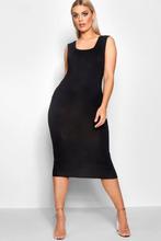 Boohoo | Plus Jersey Square Neck Midi Dress | Clouty