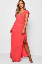 Boohoo | Plus Boutique Beaded Ruffle Maxi Dress | Clouty