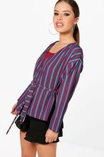 Boohoo | Petite Stripe Wrap Tie Top | Clouty